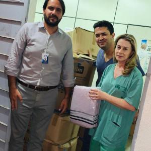 Doação de 400 Toalhas para o Hospital das Clínicas